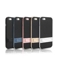 Wholesale Fibre Case - 2 in 1 Hybrid Kickstand Case Carbon Fibre Back Holder Stand Case For iPhone X 8 7 Plus Samsung S7 Edge S8 Plus Note 8