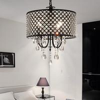 Wholesale rustic art online - Nordic American crystal chandelier pendant lighting chain chandelier lighting iron art Living room dining room bedroom light Modern