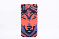 Wholesale iphone lion cases for sale – best Brand Animals Lion Wolf Owl Pattern Hard Back Phone Case For iPhone X Glow In The Dark Luminous Forest King Case