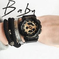 Wholesale Baby Shocks - Brand top quality female wristwatch baby watch all functions light ga110 sports shock watches with box drop ship