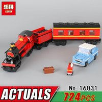 Wholesale Wooden Train Track Cars - wholesale 16031 The Hogwarts Express Track Train Building Block Set Compatible 4841 Bricks Children Car Classic Educational Toy Gift
