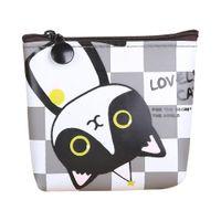 Wholesale Harajuku Wallets - Wholesale- 4 Styles Mini Cute Cat Plush Coin Purse Animals Prints Zipper Wallets Harajuku Children Bag Women Billeteras Cute Monedero Gato