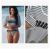 Wholesale T Shirts Print Bikini - Bikini beach cover ups Stretch cotton printed letter T-shirts summer sexy tops dresses women sexy vacation seaside swimwear blouses 2017 new