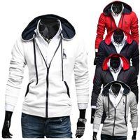 Wholesale korean zipper jackets hoodies - New Fashion Men Deer embroidery Jacket Korean Men's Hoodies Sweatshirt Slim Stylish Casual Cardigan Cosplay Costume free shipping