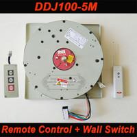 lámpara araña e27 al por mayor-DDJ100 5m Auto Control remoto remoto Hoist Chandelier Elevador de iluminación Levantador eléctrico Sistema de elevación de luz Motor de lámpara con interruptor de pared