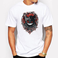 Wholesale tokyo ghoul shirts - Camping & Hiking T-Shirts New Slim Red Shadow Tokyo Ghoul White Man Casual T-shirt Men T Shirt Cotton anime Cartoon Printed tee shirt homme