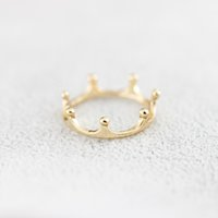 Wholesale Simple Crown Wedding - Wholesale 10Pcs lot Hot Sale 2017 New Fashion 925 Silver Rings Fine Jewelry Simple Queen Crown Gold Filled Rings Size 6.75