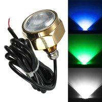 Wholesale 12v Led Lights Underwater Boat - Wholesale-Excellent Quality 27W Waterproof IP68 Rate 9 LED Underwater Marine Boat Drain Plug Light Brightest 1800 Lumens DC11-28V