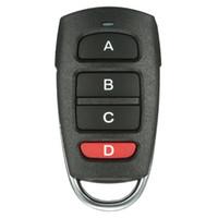универсальная сигнализация оптовых-Оптово Универсальный беспроводной пульт дистанционного управления 4 кнопки 433mhz Копировать Клонирование Электрический двери гаража охранной сигнализации контроллера брелока ключи от машины