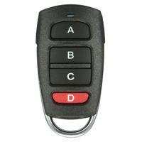 ingrosso pulsante di sicurezza-Commercio all'ingrosso-Telecomando senza fili universale 4 pulsanti 433 mhz copia clonazione porta del garage elettrico di sicurezza di allarme controller chiave Fob auto chiavi