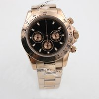 Wholesale Cosmic Black - Cosmic timing series tona 116529 18K rose gold gold two-color 3 dial stainless steel Asia 2853 high-quality automatic mechanical watch