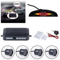 Wholesale Park Sensor Set - 1 Set Car LCD Display Vioce Reminder Reverse Parking Radar System 4 Radar Sensors Backup Camera Detector