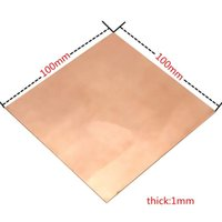 Wholesale Copper Plate Sheet - New 1PC 1mm x 100mm x 100mm 99.9% Copper Cu Metal Sheet Plate Nice Mechanical Behavior and Thermal Stability