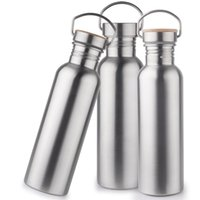 Wholesale 18fn Wide Mouth Vacuum Insulated Cup Travel Bottles Bicycle Cups Double Walled Stainless Steel Wine Shape Portable Water Bottle High Quality