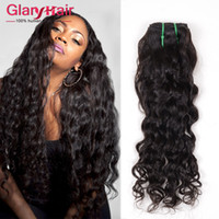 Wholesale Remy Water Wave Weave - Brazilian Water Waves Natural Weaving Hair 1b Brazilian Natural Curly Weave Virgin Remy Hair Extensions Cheap Natural Wavy Weave Hair Weft