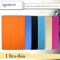 Wholesale Magnetic Ipad Skins - Silk Skin Ultral Smart PU Leather Stand Case with Magnetic For 7.9'' iPad Mini 1 2 3 9.7 inch iPad Air2 Folding Transparent Clear Covers