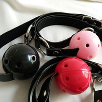 Wholesale bondage band - Leather Band Restraints Ball Mouth Gag Oral Fetish Toy Fixation Mouth Stuffed Adult Games For Couples Bondage Sex Products