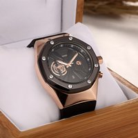 Wholesale Transparent Skeleton Watch For Men - 2016 hot sale automatic skeleton quartz watch for a man to leave the shore background transparent blue dial watch