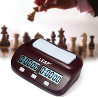 Wholesale Portable Chess - Wholesale-Professional LEAP Digital Chess Clock Count Up Down Timer Electronic Board Game Player Set Portable Handheld Man Piece Master