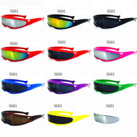 Wholesale Fishing Sunglasses - Fashion X-Men Fish-shaped Sunglasses Men Polarized Cycling Sun Glass Brand Designer outdoor Sport Riding Eyewear 12 colors Optional For sale