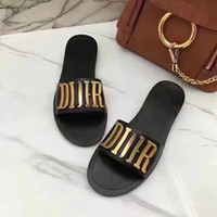 Wholesale Gold Sandals Flats - New 2017 Summer Style Casual Shoes Women Sandals Fashion Brand Slippers Flats Good Quality Flip Flops Sexy Sandal Flat Free shipping