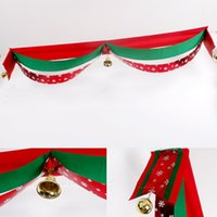 Wholesale ball ceiling online - Christmas Wave Flag With Bright Ball And Bell Festival Banner Decor Xmas Supplies Popular Ceiling Hanging Ornament Scene Props hq F R