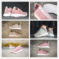 Wholesale Naked Red Women - 2017 NMD PK CS2 x Naked x Kith running shoes for women high quality sports shoes ,size US 5.5-7.5