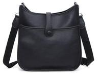 bolso negro del ante del faux al por mayor-2016 nueva alta calidad de cuero genuino bolso de las mujeres bolsa de mensajero bolso de marca diseñado moda vintage bolso de hombro