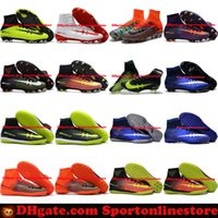 Wholesale Turf Superflys - Mercurial CR7 Superfly V FG IC TF Soccer Boots Mens Soccer Cleats Turf Superflys Football Boots Cristiano Ronaldo Indoor Soccer Shoes 2017