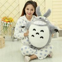 Wholesale Smile Video - 30CM Cartoon My Neighbor Totoro Cute Plush Toys Smiling Soft Kawaii Stuffed Animals Kids Cat Toys Dolls Gifts