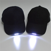 Atacado LED Light Snapback Adjustable Hip Hop Hats com 5 Led Flash Light Novidade Led Cap para caça Camping Grilling Jogging Walking