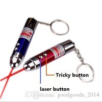 Wholesale Shock Lasers - Electric shock warheads entire toy red laser multifunction keychain Toys children holiday gift Free shipping a353