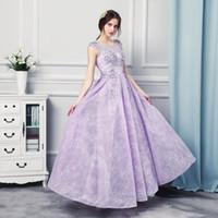 Wholesale Engagement Dress Red - Engagement Dresses 2017 Vestido Longo De Renda Scoop Cap Sleeve Lace Prom Dress Long Evening Dresses