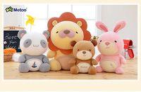 Wholesale Plush Soft Lion - 20 cm plush doll toy Soft Stuffed lion panda Plush Toys Gift Decorations rabbit 4 style