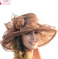 Wholesale Elegant Hats For Women - Fashion wedding hats for brides diameter 31cm Evening Hats Women Elegant formal hair-accessories-cheap 9 Colors Bridal Wedding Accessories