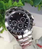 ic verkauf großhandel-Großverkauf der Fabrik hohe Qualität 40mm Mens-automatische Uhren schwarze Ceram IC Einfassung 116500 Valjoux Bewegung Mens-Sport-Handgelenk kein Chronograph