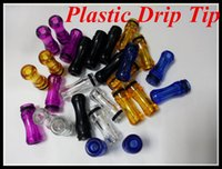Wholesale Dct Starter Kit - Plastic Drip Tips transparent Colorful Mouthpiece Plastic Drip Tips for EE2  Vivi Nova  DCT 510 for ego starter kit e cig
