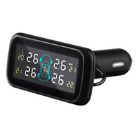 herramienta de sistema de monitoreo de presión de neumáticos al por mayor-Auto Car Wireless 4 sensores externos Sistema de alarma LCD Display Sistema de monitoreo de presión de neumáticos para coche TPMS Herramienta de diagnóstico
