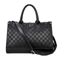 Wholesale Europe Brand Bag Wholesale - Wholesale- 2016 Luxury Brand Design Women Messenger Bags Leather Black large Tote Womens Shoulder Bag American Europe Style handbad
