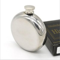 Wholesale Mini Hip Flasks - 5oz Mini Round Stainless Steel Hip Flask alcohol flask pocket flask wine flask party supplies flask