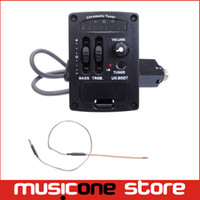 Wholesale Band Eq - 2 Band LED Ukulele guitar Chromatic Tuner Ukulele UK Soft Piezo Pickup EQ Equalizer UK-300T