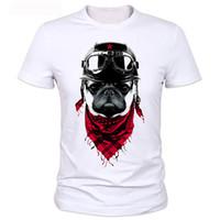 Wholesale Dog Hooded Shirt - Wholesale- Cool New T Shirts Men the adventure dog Top Tees Pug Life Tshirts O Neck Camisetas Polyester Short Sleeve T-shirts Tops