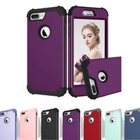 3 em 1 Hybrid High Quality Silicone PC Back Cover Hard Coated Case para iPhone 8 7 6 6s Plus Samsung S8 opp