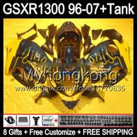 Wholesale Hayabusa Yellow - 8gift For yellow flames SUZUKI Hayabusa GSXR1300 96 97 98 99 00 01 13MY94 GSXR 1300 GSX-R1300 GSX R1300 02 03 04 05 06 07 TOP black Fairing