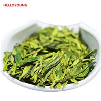 Wholesale green tea men - Good new handmDragon Well 250g Chinese Longjing green tea the chinese green tea Long jing the China green tea for man women health care