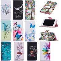 Wholesale Paint Stand - Wallet Case for iphone X PU paint Leather Wallet Case Cover with Credit Card Stand Slot For iphone 8 Galaxy S8 S6 edge