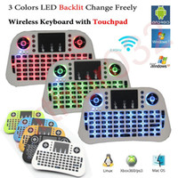 Wholesale Iptv Remote Control - Mini Keyboard i10 3 Colors Backlight Smart Remote Control Fly Air Mouse 2.4G Wireless for Android TV Box IPTV 360 Xbox Gamepad PS3 VS Rii i8