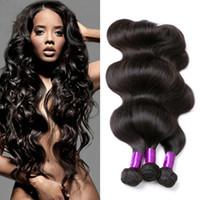 karışık saçlı saç toptan satış-Perulu Vücut Dalga İşlenmemiş İnsan Virgin Saç Örgüleri 8A En Kaliteli Remy İnsan Saç Uzantıları Boyanabilir 3 adet / grup Yok karış ...