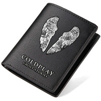 Wholesale Rock Band Bag - Coldplay wallet Ghost stories purse Music band cold play short long cash note case Money notecase Leather burse bag Card holders