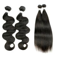 ingrosso capelli remy remoti-Consiglia i capelli vergini brasiliani dell'onda tessono 3 pacchi le estensioni non trattate naturali dei capelli umani di colore marrone pieno 10-26 pollici